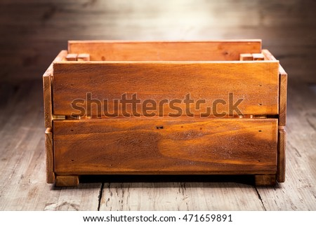 old wooden box on a table