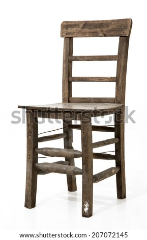 old wooden chair. old wooden chair