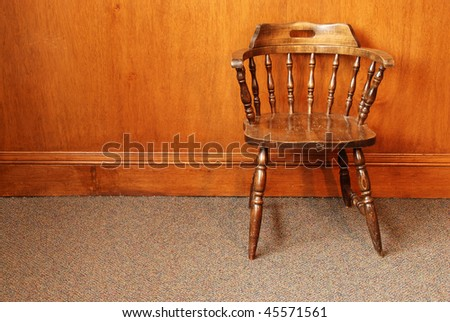 Old Wooden Chair - stock photo
