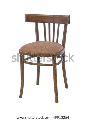 old wooden chair isolated on a white background