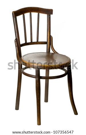 Marvelous Old Wooden Chair On White Background