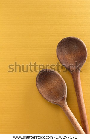 Old wooden cooking spoons - stock photo