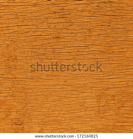 Old wooden crack raw board - stock photo