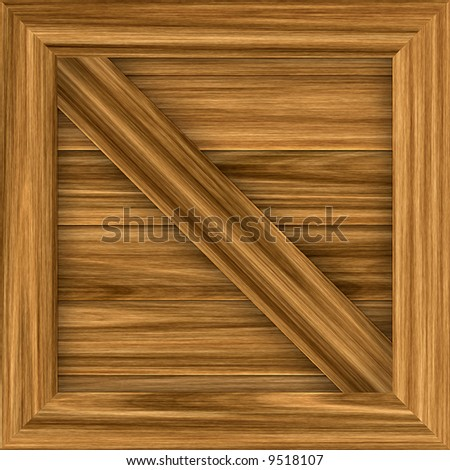 Old wooden crate - stock photo