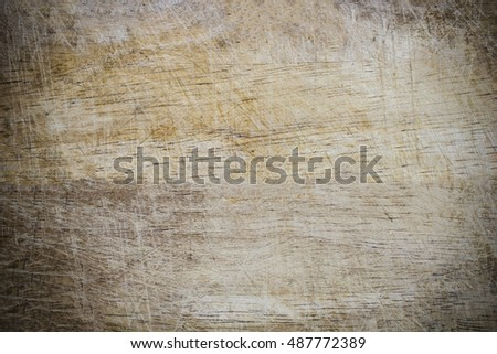 Old wooden cutting board isolated