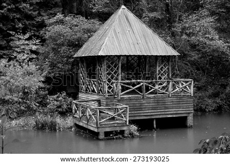 old wooden dock  - stock photo