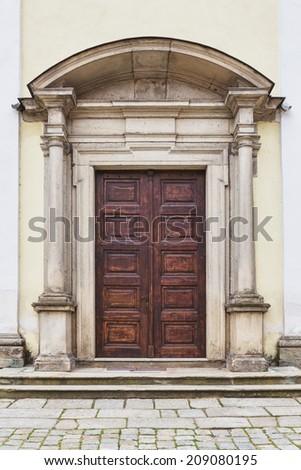 old wooden door - stock photo