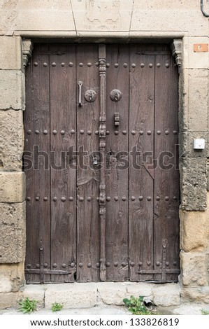 old wooden door in Nicosia, Cyprus