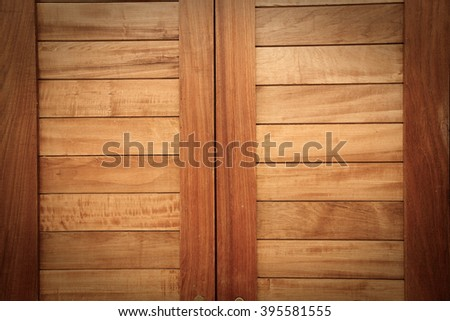 Old wooden door locks and wooden latch