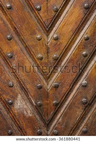 Old wooden door texture - stock photo