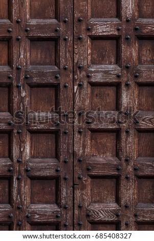 Old Wooden Door Texture In Gothic Style