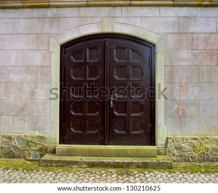Old Wooden double doors