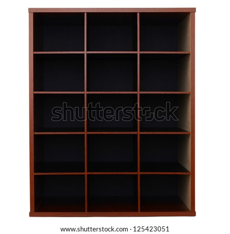 Old wooden drawers, office mail stuffs - stock photo