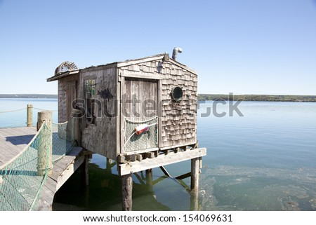 Fishing Shacks Stock Images Royalty Free Images Vectors