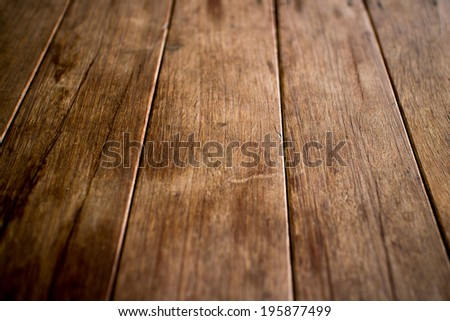 Old wooden floor - stock photo