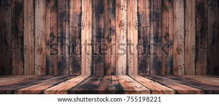 Old Wooden Floor And Wall Wood Texture Backgrounds