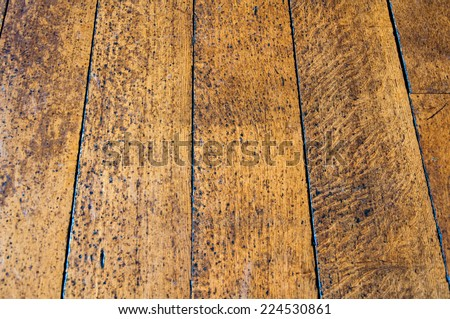 Old wooden floor texture - stock photo