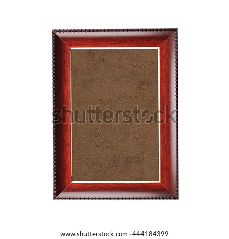 Old wooden frame isolated on white background. - stock photo