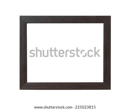 Old wooden frame On white background