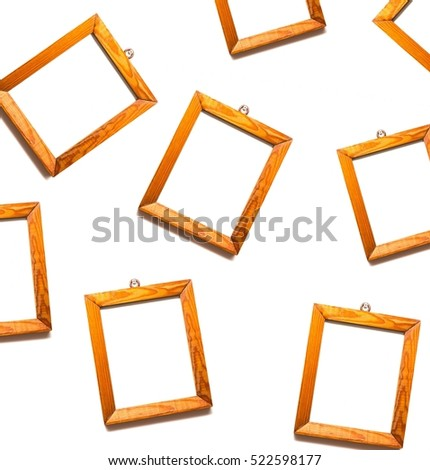 Old Wooden Frames Pine Wood Hanging Stock Photo Edit Now 522598177