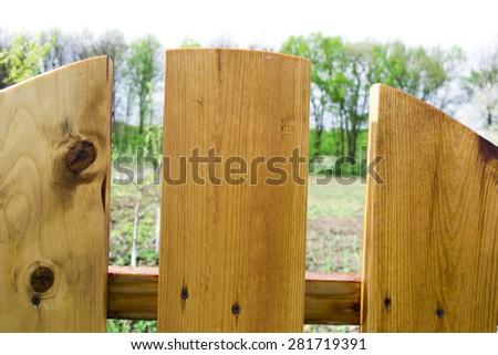 old wooden garden gate - stock photo