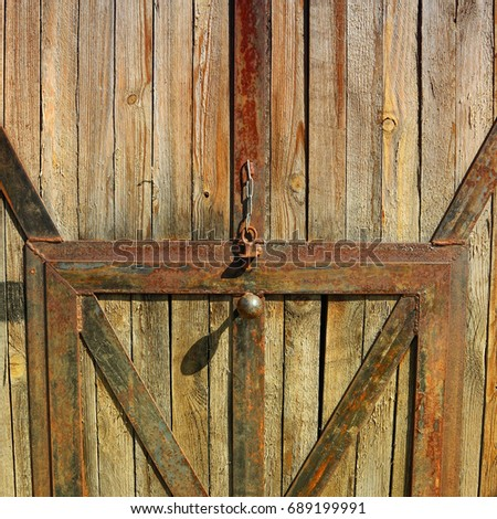 Wooden Barn Has Loft Doors Open Stock Photo 48334306