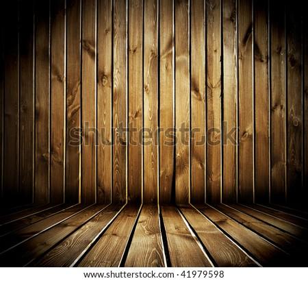 old wooden interior - stock photo