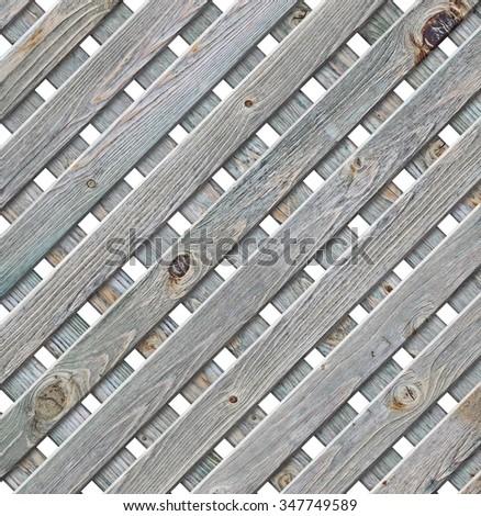 Old wooden lattice strips - stock photo