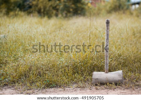 old wooden mallet