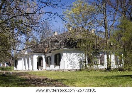 Old wooden manor house - stock photo