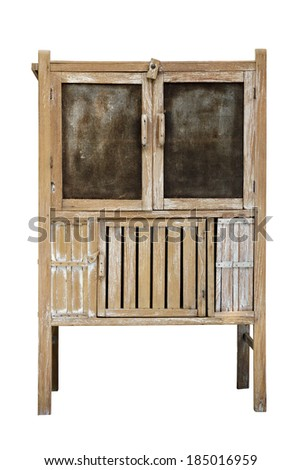 old wooden pantry - stock photo