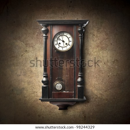 Wall Hanging Grandfather Clock antique wall clock stock images, royalty-free images & vectors