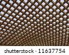 Old wooden pergola - stock photo