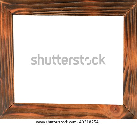 Old wooden photo frame - stock photo