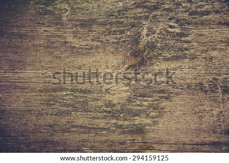 Old wooden plank background, tinting. Grunge  material - stock photo