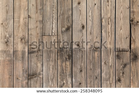 Old wooden plank texture background. Front view. - stock photo