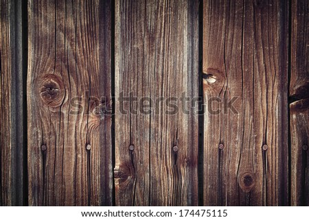 Old wooden planks - stock photo
