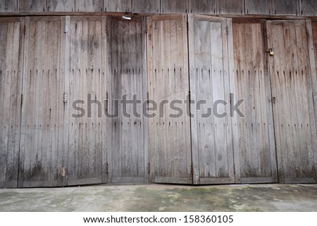 Old wooden planks background.