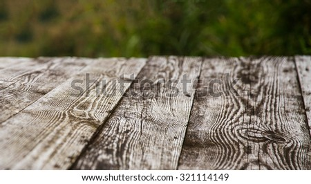 old wooden planks in the platform