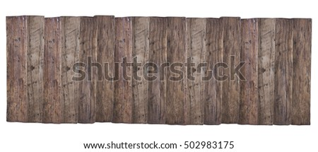 Old wooden planks isolate