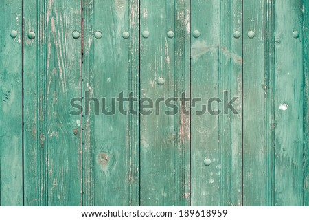 Old wooden planks wall background - stock photo