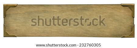 Old wooden plate - stock photo