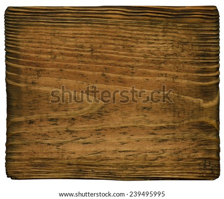 Old wooden plate