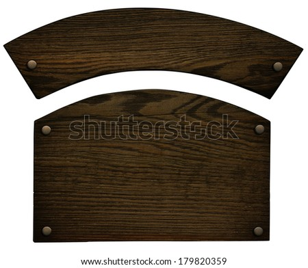 Old wooden plate (clipping path)