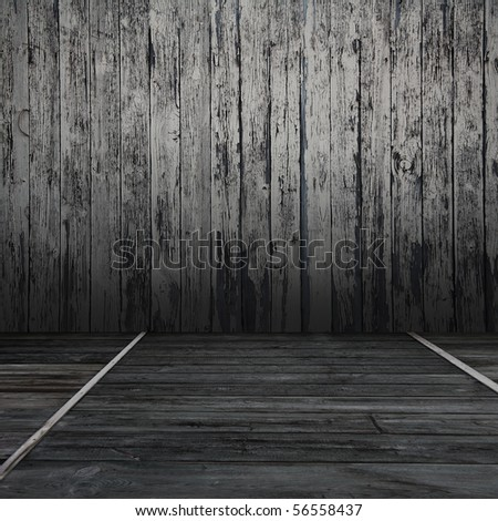 old wooden room - stock photo