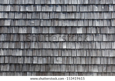 old wooden shingles for creative background - stock photo