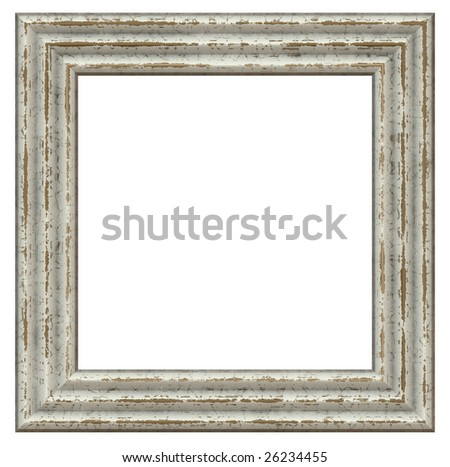 old wooden square frame - stock photo