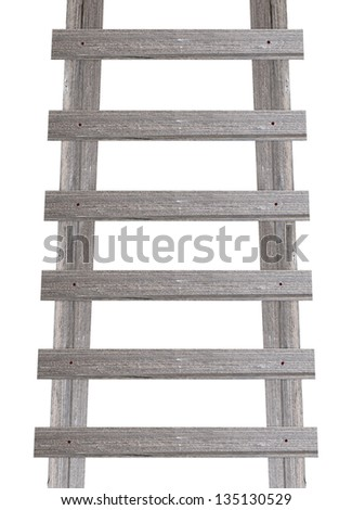 Old wooden stairs - stock photo