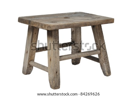 Old wooden stool isolated on white background  sc 1 st  Shutterstock & Old Wooden Stool Stock Images Royalty-Free Images u0026 Vectors ... islam-shia.org