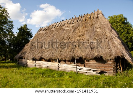 Old Wooden Straw House - Poland